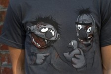 zombie Bert and Ernie  tshirt